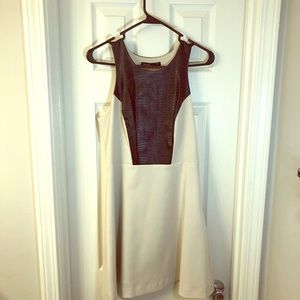 Kensie dress with Black leather snake accent